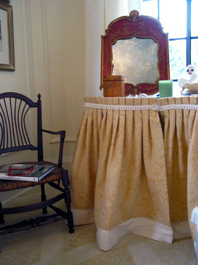 Dressing table skirts lady s dressing table all dressed up an dressing table skirts lady s dressing table all dressed up an ordinary vanity table looks geotapseo Image collections