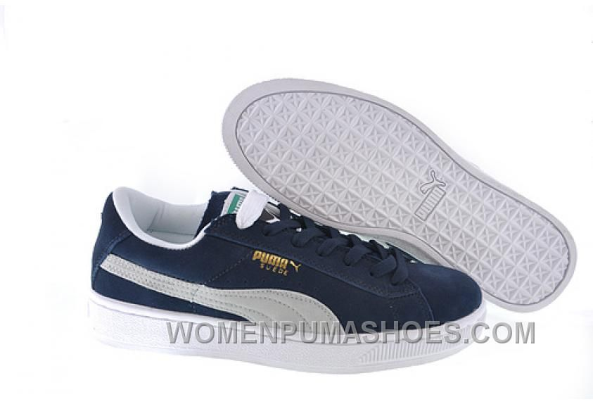 premium selection 19bc6 24d6b Women's Puma Suede Blue-White Cheap To Buy FAnwX in 2019 ...