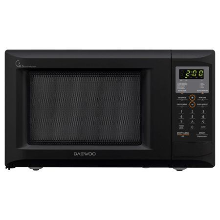 Daewoo 0 9 Cu Ft 900w Black Countertop Microwave Oven