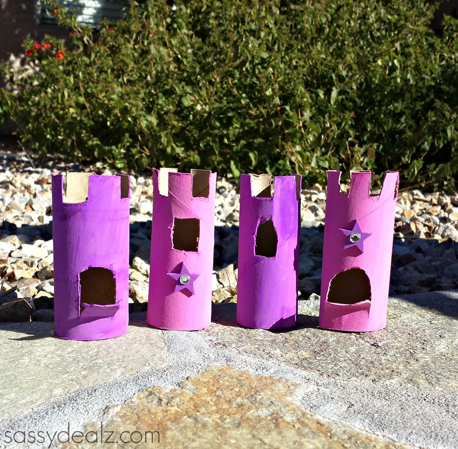 Toilet Roll Craft Ideas For Kids Part - 30: Toilet Paper Roll Castles {Craft Idea For Kids