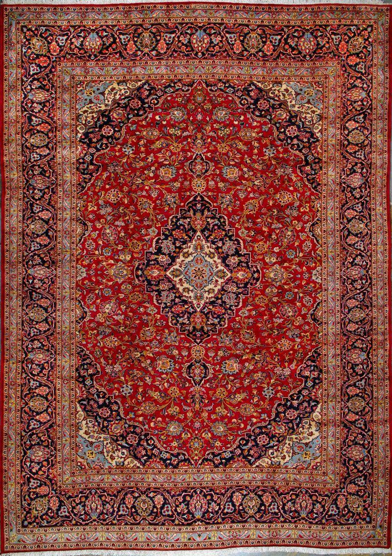 Buy Kashan Persian Rug 9 39 8 Quot X 13 39 9 Quot Authentic Kashan Handmade Rug Rugs Persian Rug Kashan Rug