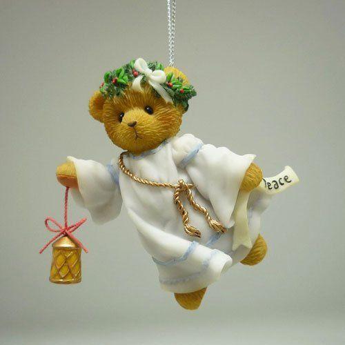 Bear As Peace Angel Ornament
