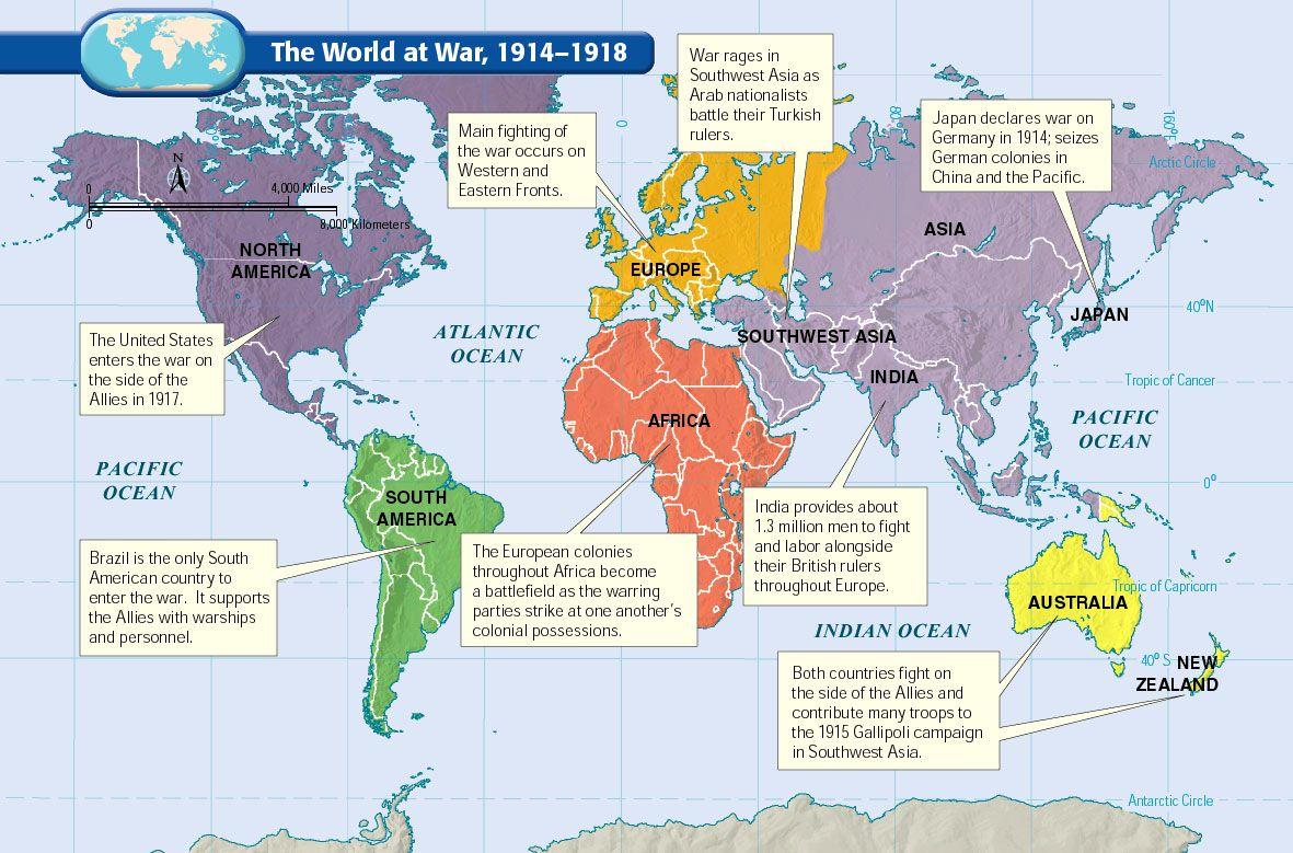 World War 1 Map