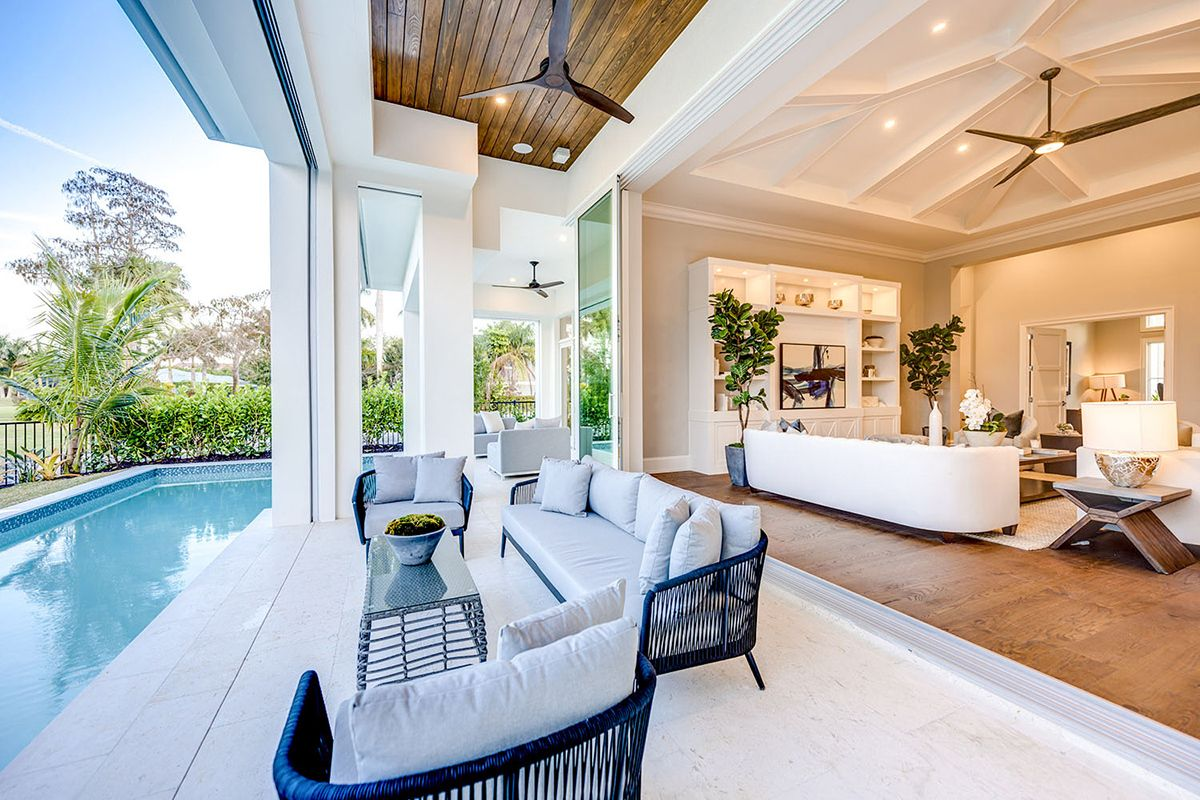 One-level Beach House Plan with Open-Concept Floor Plan in ...