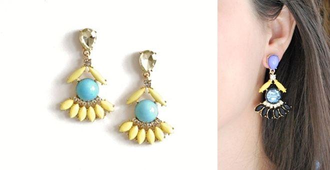 Free Shipping! - Fan Fringe Earrings