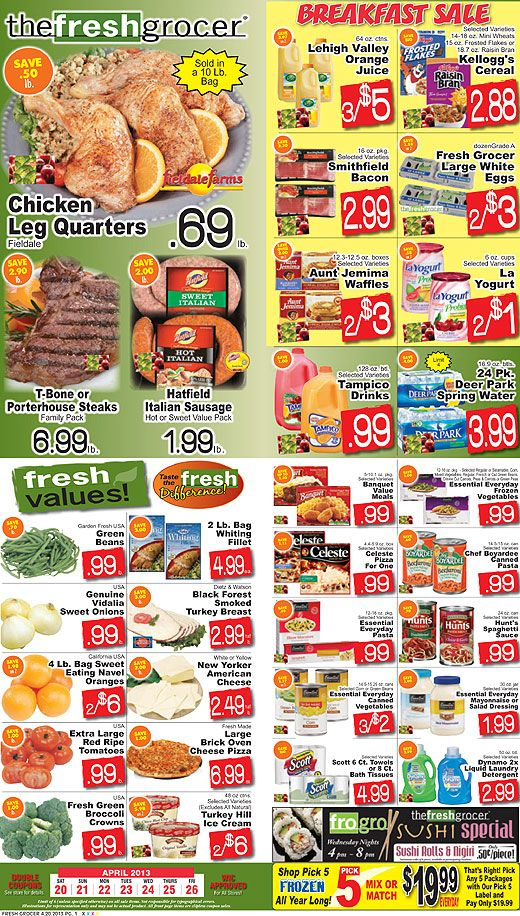 Fresh Grocer Weekly Ad