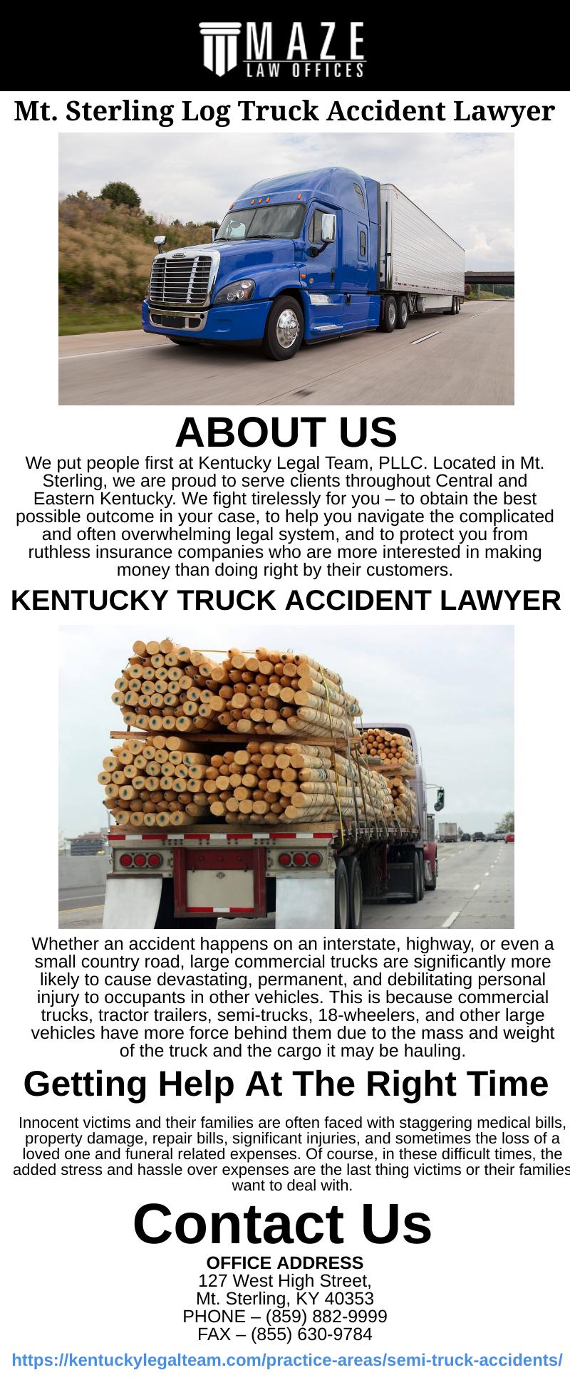 Kentucky Truck Accident Lawyer Trucks Accident