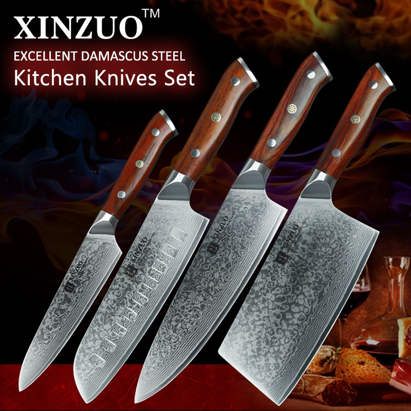 Reviews 2017 Xinzuo Damascus Steel Kitchen Knife Set 8 Inches Chef Fascinating Kitchen Knives Reviews Design Decoration