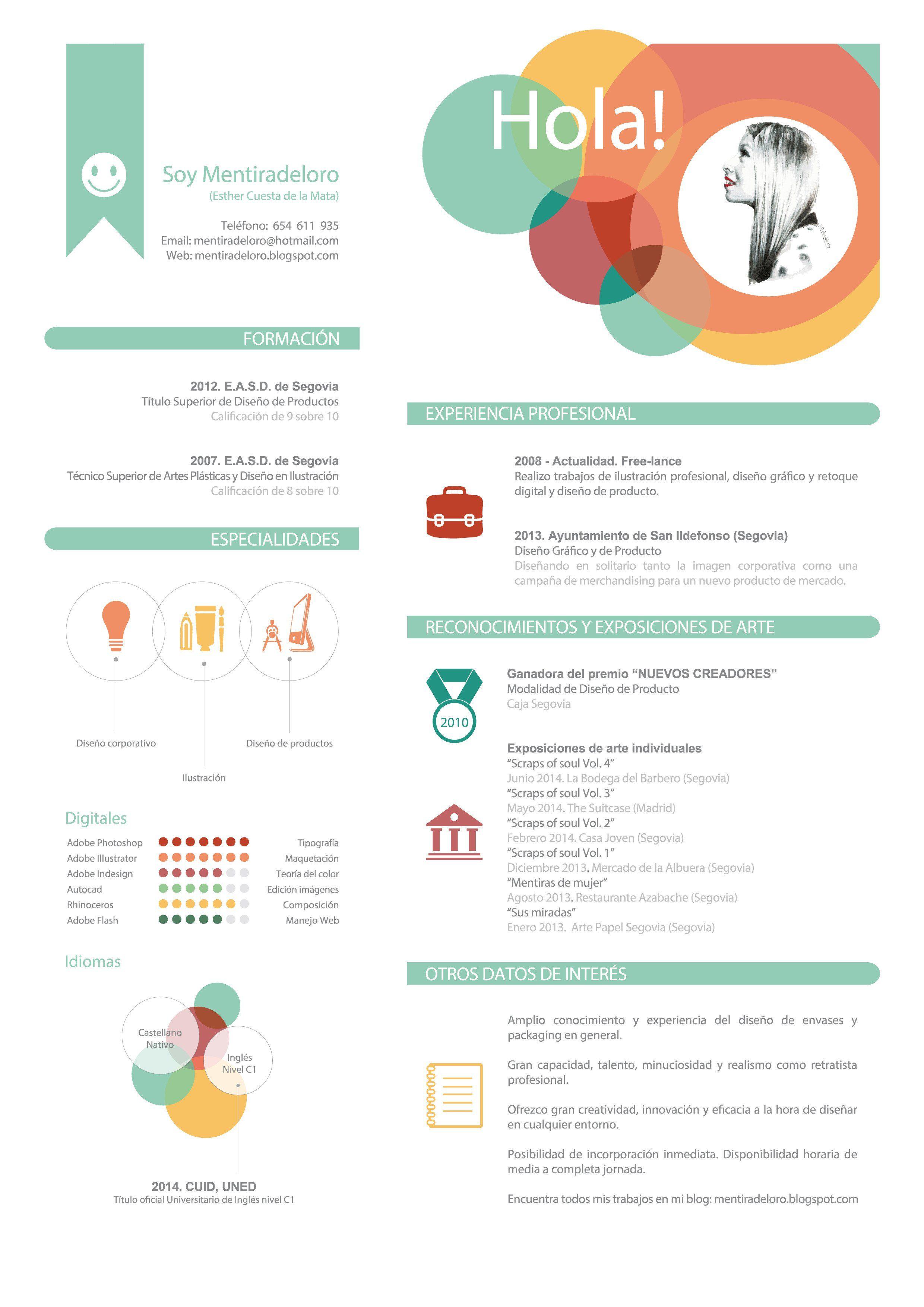 Ejemplo de Curriculum Creativo By Mentiradeloro | imagen | Pinterest ...