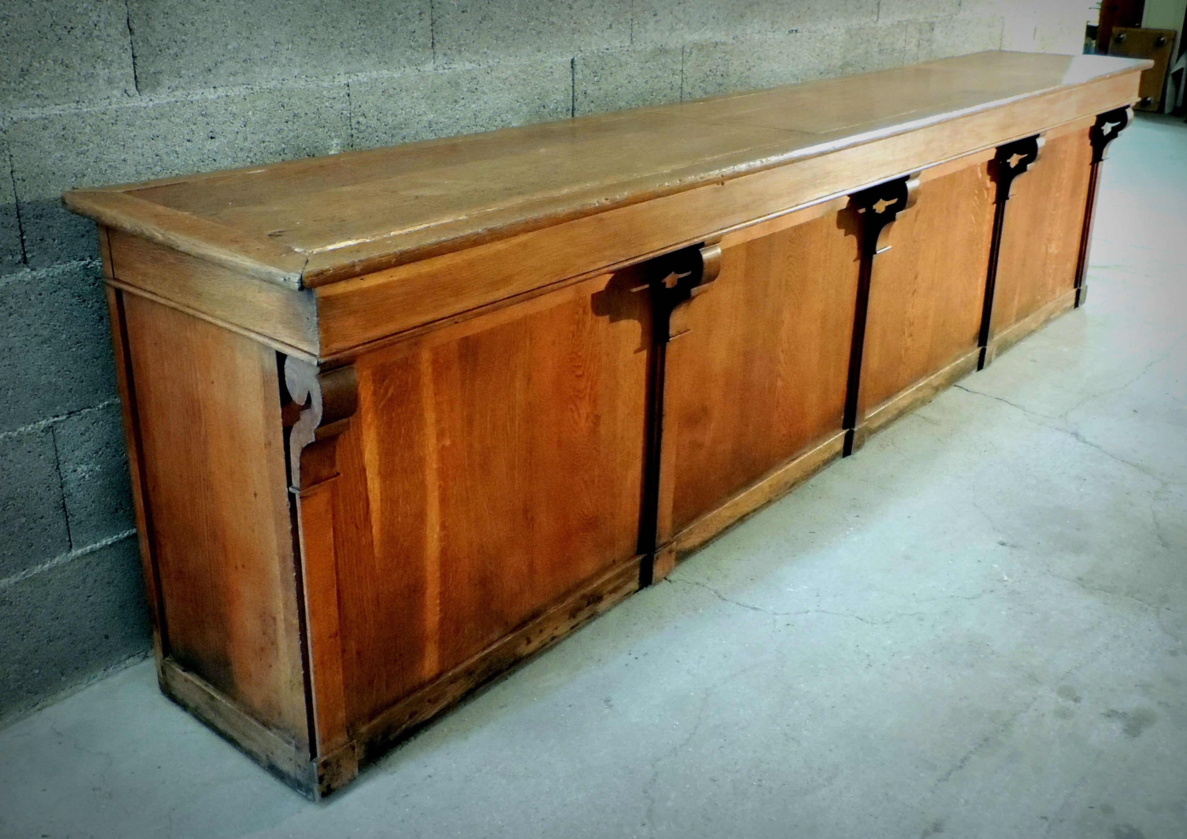 Ancienne Banque Comptoir De Tailleur 1940 Meuble De Metier 325 Cm De Long Furniture Decor Storage