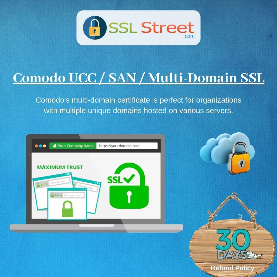 Comodo San Multi Domain Ssl Certificate Allows You To Add More Host