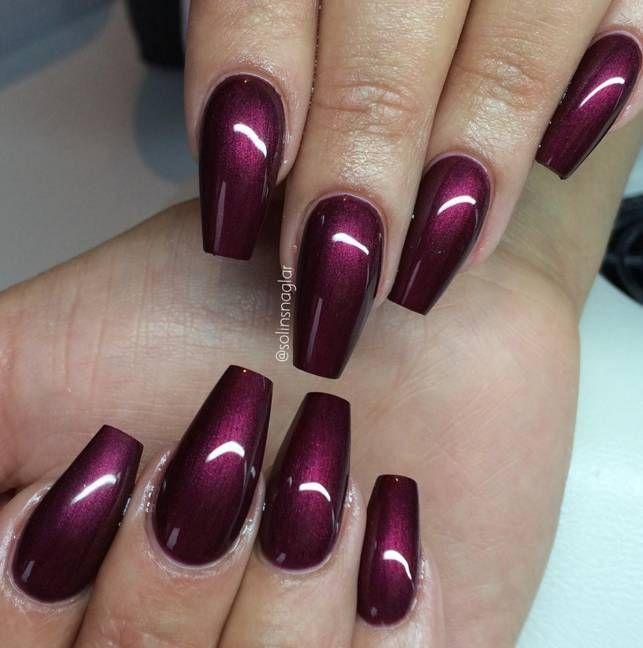 Lilly Nails Gel Polish Purple Acrylic Nails Purple Gel Nails Cherry Nails