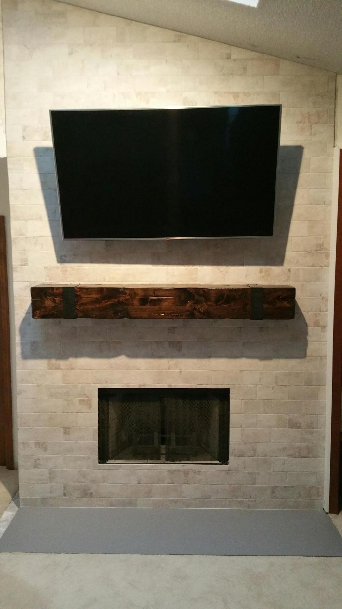 bloodworth fireplace surround daltile brickwork in studio mantle
