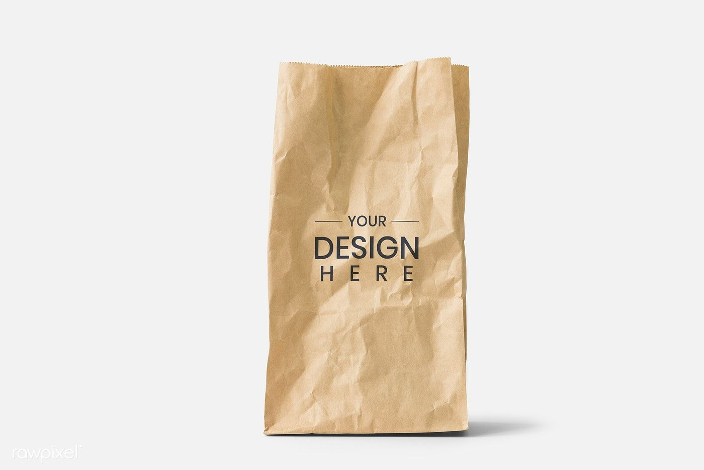 Download Download Premium Psd Of Brown Paper Bag Mockup On A White Background 844062 Paper Bag Bag Mockup Brown Paper Bag