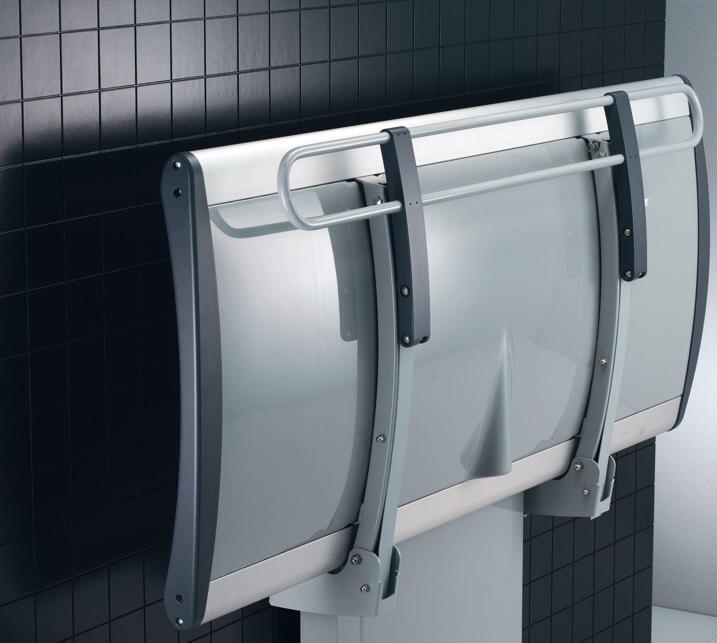 Pressalit Changing Bench Folded | Wet room ideas | Pinterest | Bench ...