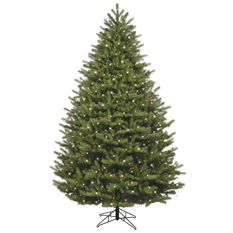 Ge 7 5 Ft Pre Lit Oakmont Spruce Artificial Christmas Tree With 1000 Constant White Clear Incandescent Lights Lowes Com Artificial Christmas Tree Lowes Christmas Trees Christmas Tree