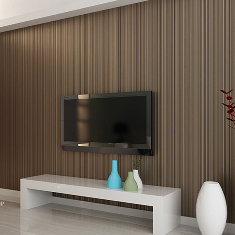 Luxury modern textured of wall paper d touch feeling striped non
