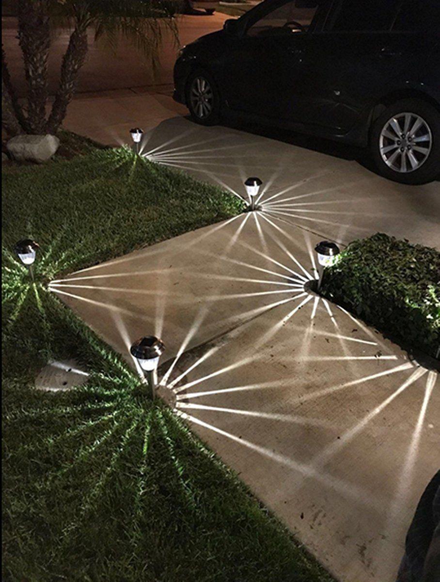 Led Solar Landscape Lighting For Path Walkway