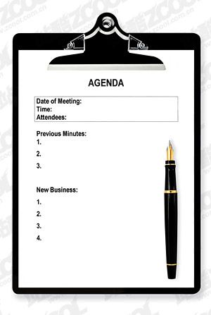 Printable Meeting Agenda Template White clip pen picture quality - agenda download free