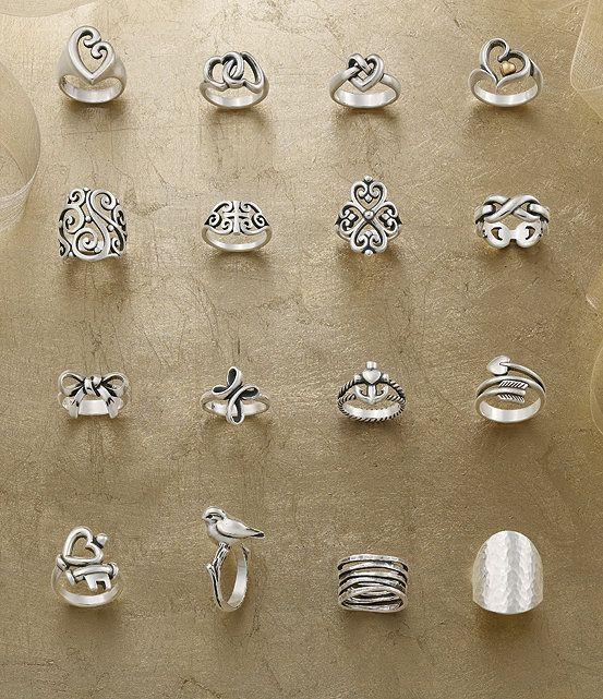 James Avery Sterling Silver Adorned Hearts Ring In 2019