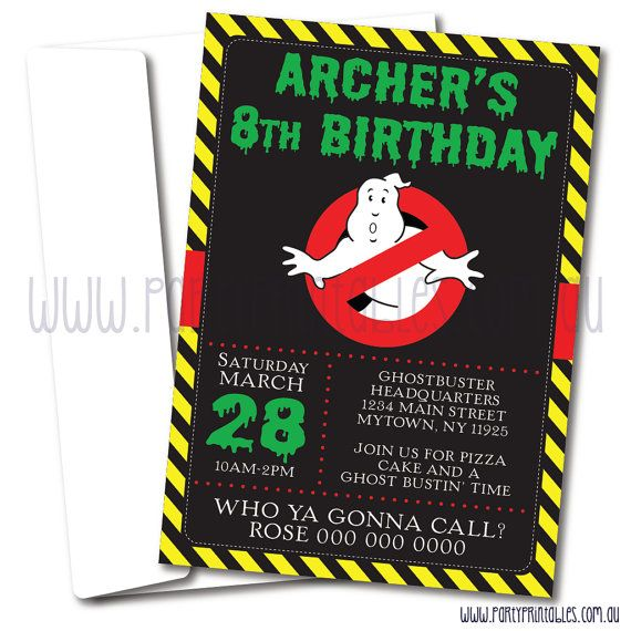 Ghostbusters Party Invitation  Ghostbusters by PartyPrintablesAust