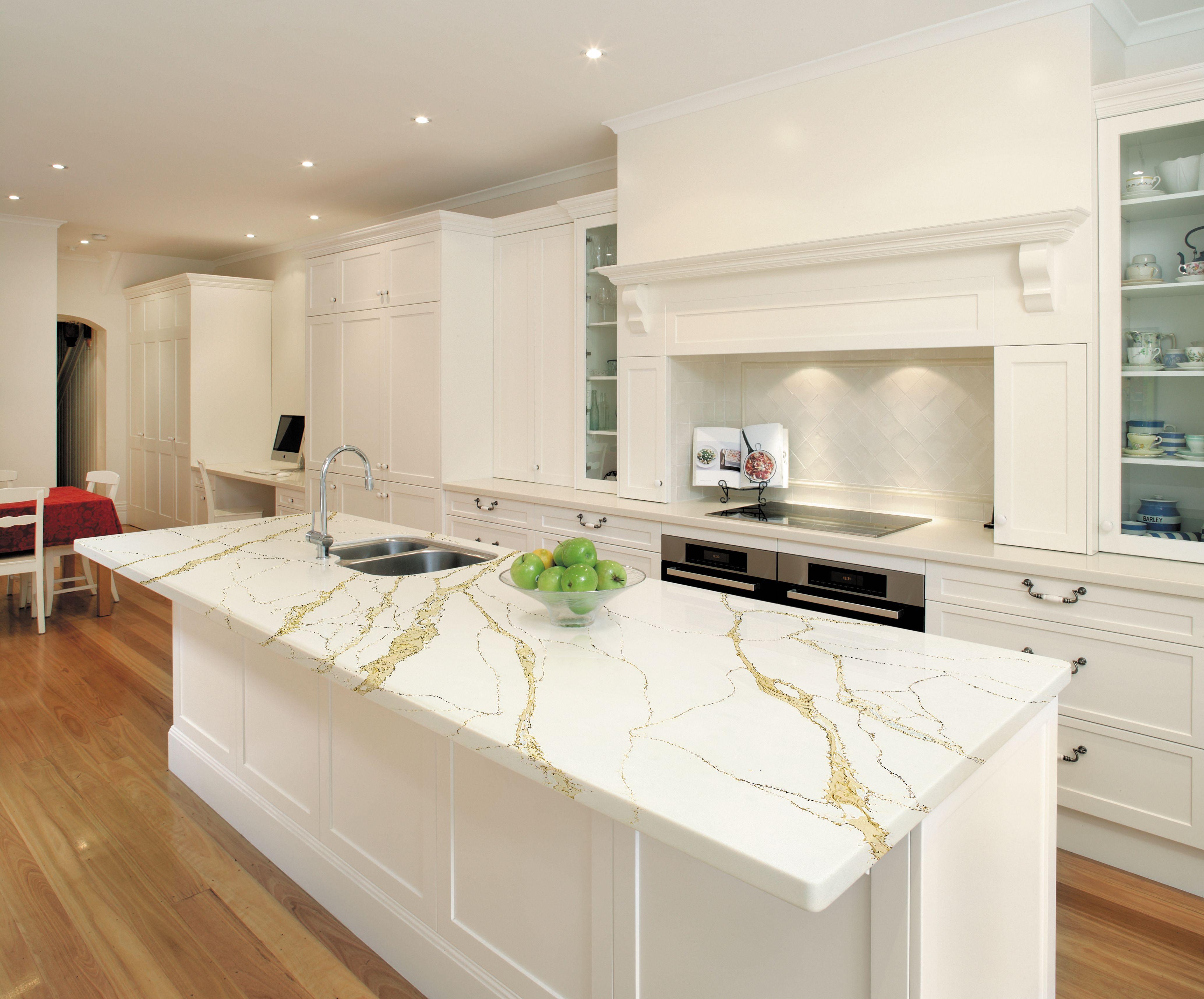 White Kitchen Countertops Quartz