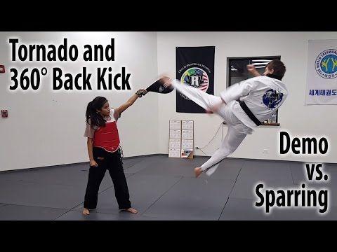 Tornado Kick X2f Hurricane Kick X2f 360 Kick Youtube Martial Arts Workout Taekwondo Sparring