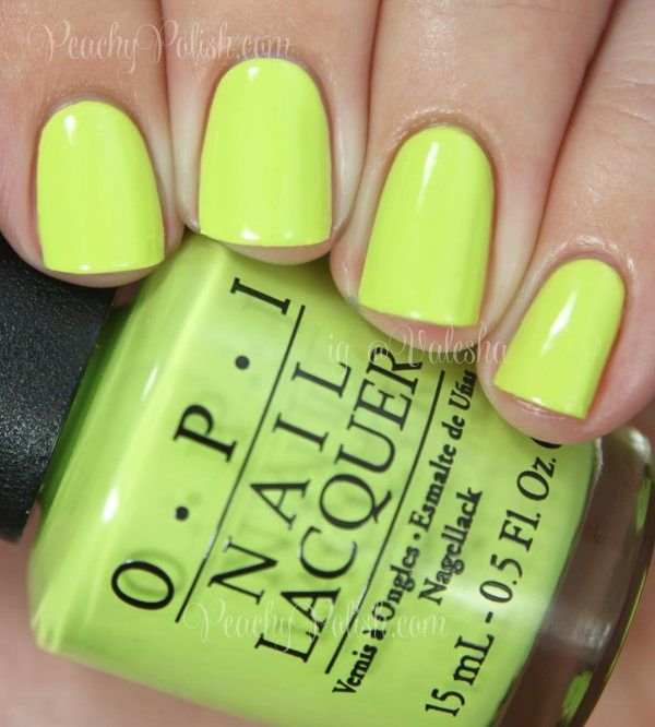 OPI Life Gave Me Lemons   Summer 2014 Neon Collection   Peachy ...