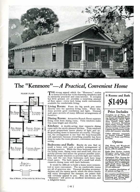 our house A Kenmore House by Montgomery Ward Sears Modern