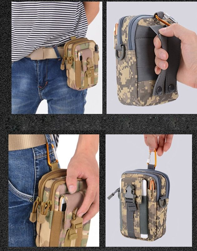 93306fa99c6e Outdoor Camping Bags Tactical Molle Pouch Belt Bag Military Hip ...