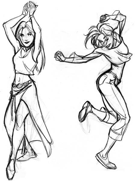 Image result for dancing drawing reference