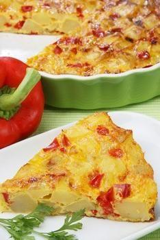 Тортилья с картофелем и сладкими перцами