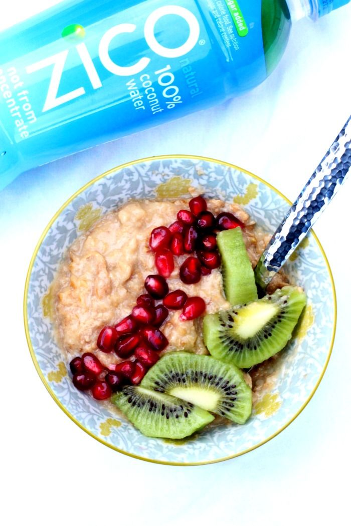 Talk about breakfast envy. Try this quick and easy overnight oats recipe made with ZICO 100% Coconut Water tonight for a better morning.