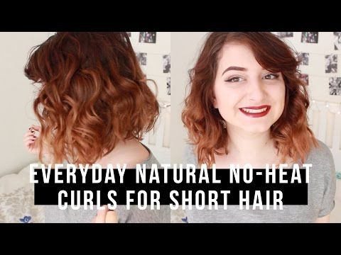 How To Curl Short Hair Tips Tricks And Tutorials Mom Fabulous How To Curl Short Hair Curls No Heat Short Hair Styles