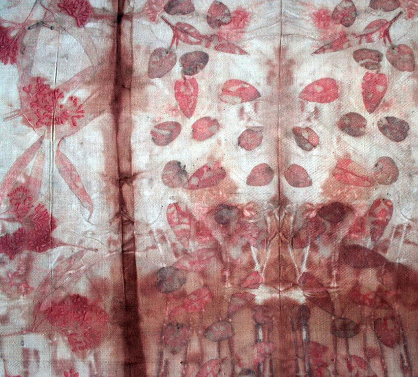 india flint... cannot believe these are the result of the dyeing process of botanicals on silk... incredible