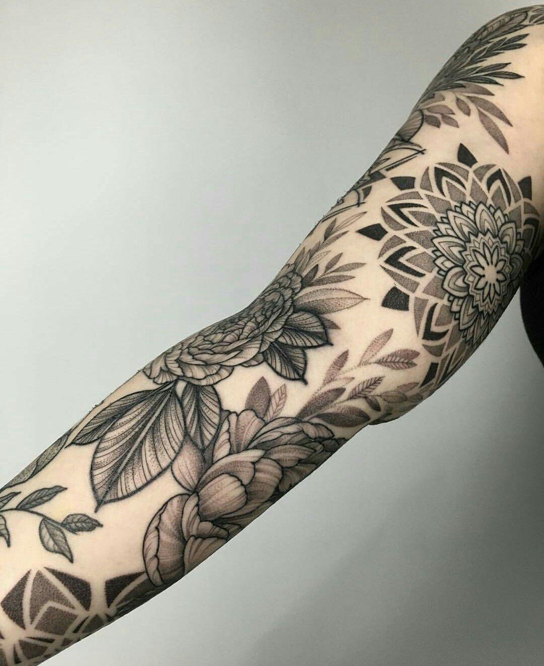 Pin By Arien Grosskurth On I N K Sleeve Tattoos For Women Mandela Tattoo Best Sleeve Tattoos