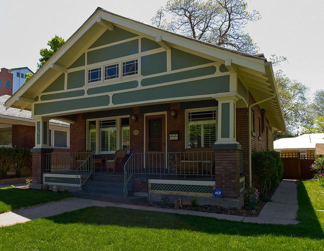 Craftsman Brick Bungalow By Photo Dean Via Flickr