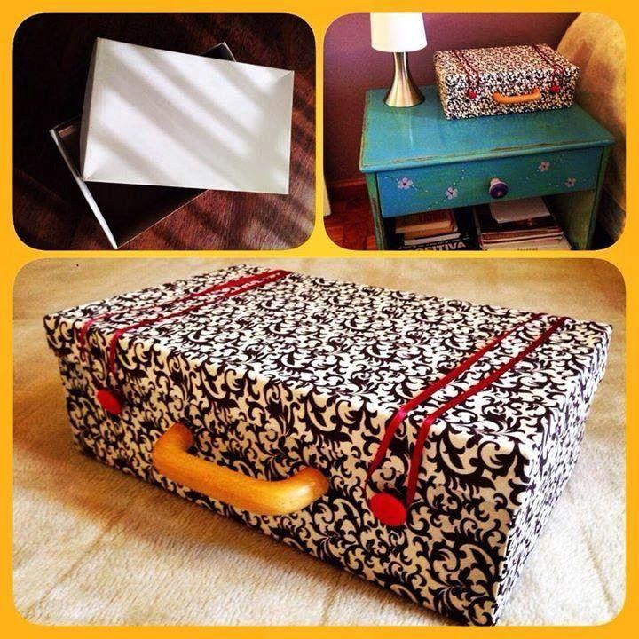Adoro Artesanato: Essa mala é uma caixa de sapato dá para acreditar ?