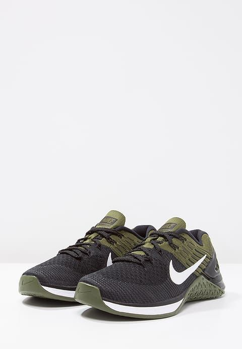 quality design 2bf25 93a0b Nike Performance METCON DSX FLYKNIT - Sports shoes - black white rough  green for