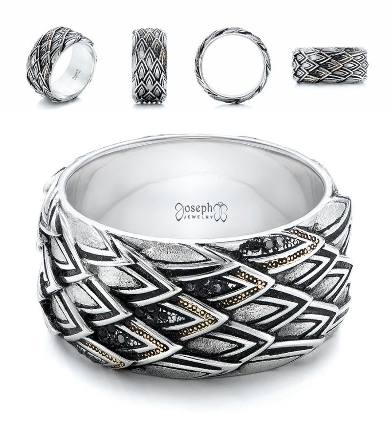 17 wedding bands to blow your dudes mind - Viking Wedding Rings