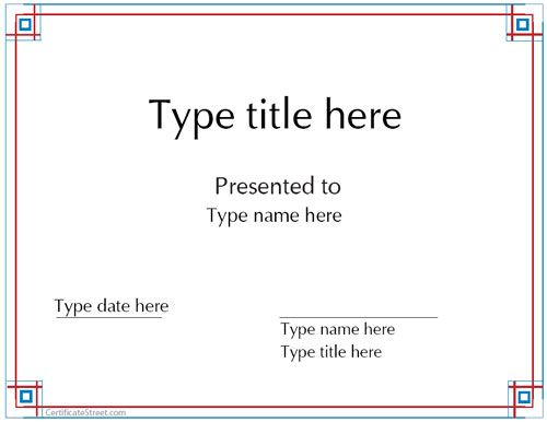 Blank Certificates - Award certificate template - award certificates templates