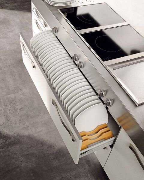 Schubladen Backoffen Aufewahrung System Küche gestalten Küche - organisation kuchen schubladen