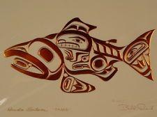 4 New Copper  BILL REID Art Cards killer whale*eagle*salmon*raven HAIDA