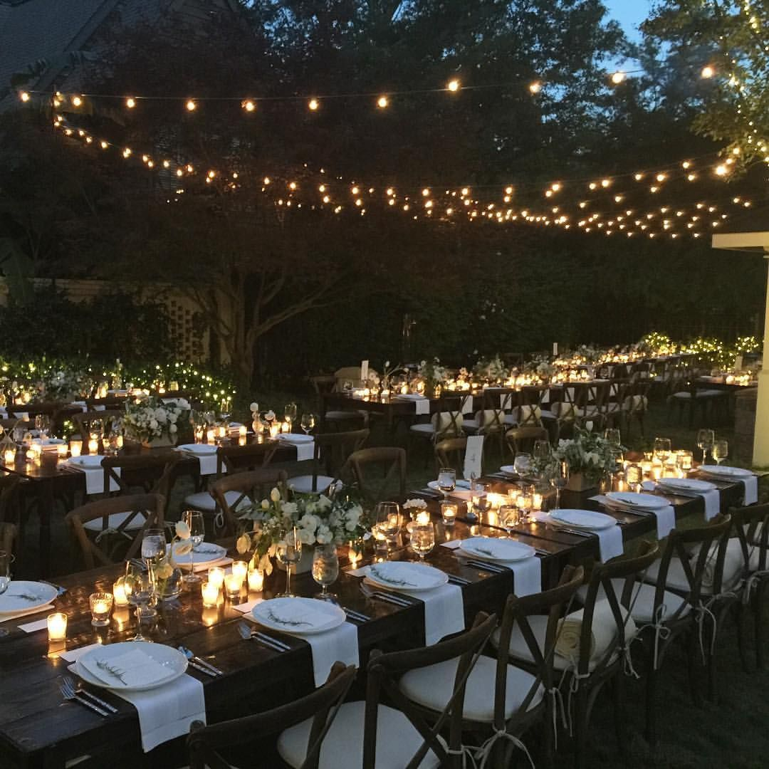 Garden wedding decorations night  Amy Osaba Events on Instagram ucAnd this was just the rehearsal