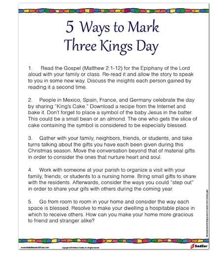 5 Ways To Mark Three Kings Day Christmas Catholics Catholic