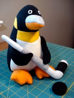 Stuffed Penguin For A Pittsburgh Penguins Fan By Fleece Menagerie