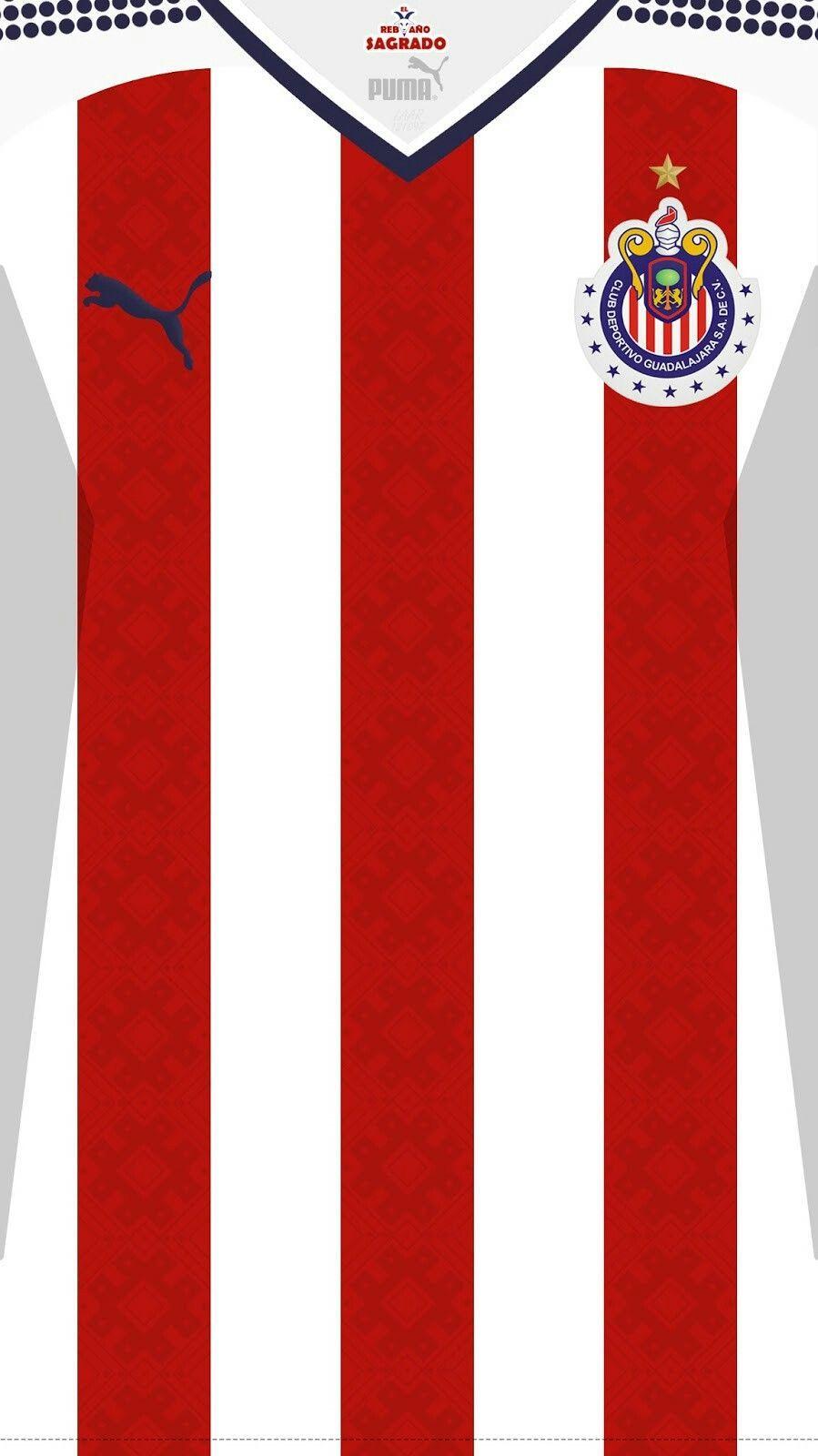 c7c08581 Chivas de Guadalajara 17-18 kit home #soccerkits | Soccer jersey ...