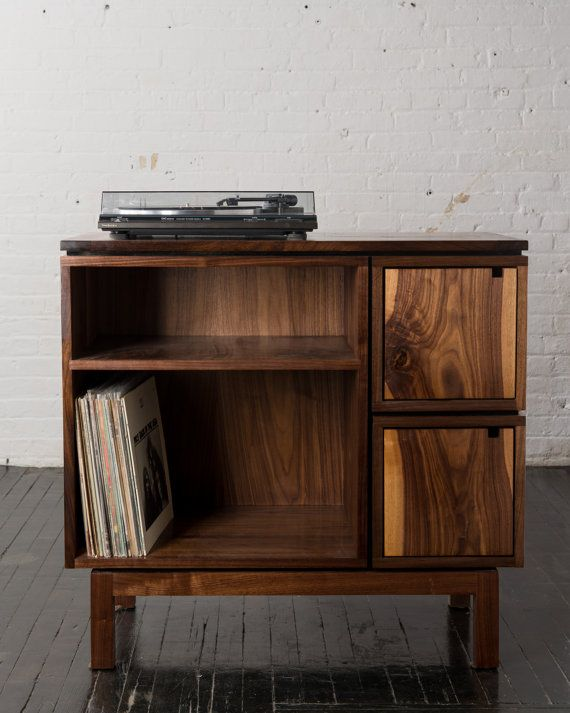 turntable furniture audiophile walnut record player stand price reduced by brianbolesfurniture