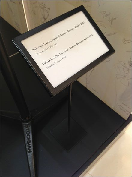 Dior Table Stands Signs Are Floored Christian Dior Fixtures And