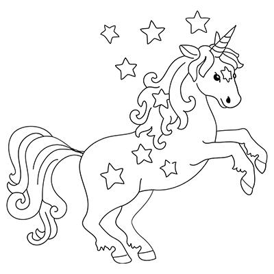 """Marabu Window Color Malvorlage """"Einhorn mit Sternen"""" #"""